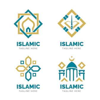 Concepto de colección de logo islámico