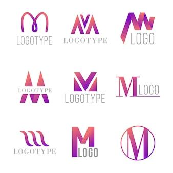 Concepto de colección de logo m