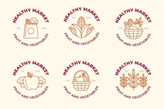 Concepto de colección de logo de mercado
