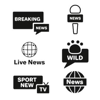 Concepto de colección de logo de noticias