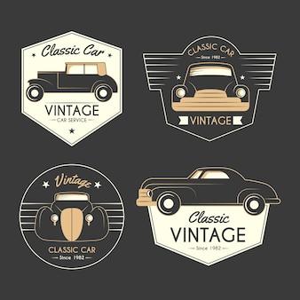 Concepto de colección de logotipos de autos antiguos
