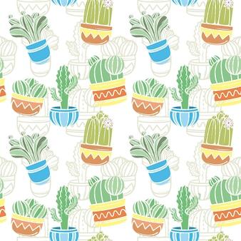 Concepto de colección de patrones de cactus
