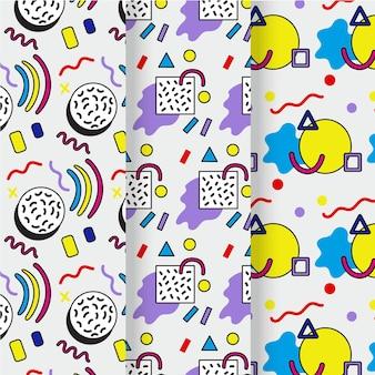 Concepto de colección de patrones de memphis