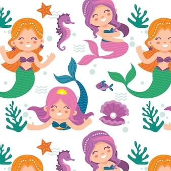 Concepto de colección de patrones de sirena