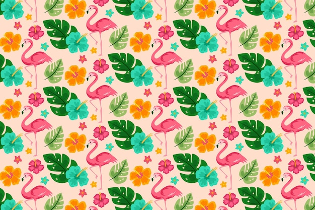 Concepto de colección de patrones de verano