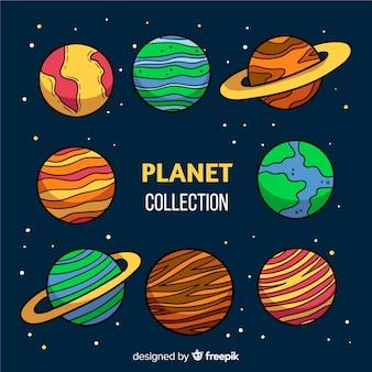 Concepto de colección de planeta astrológico