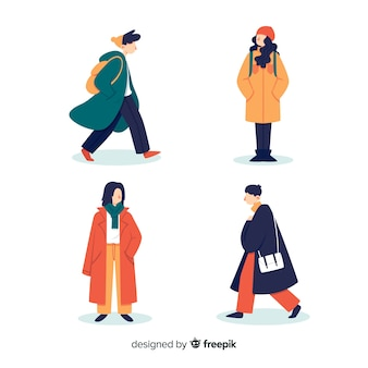 Concepto de colección de ropa de otoño
