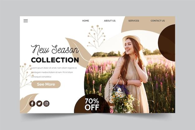 Concepto de colección de temporada nueva de venta de primavera