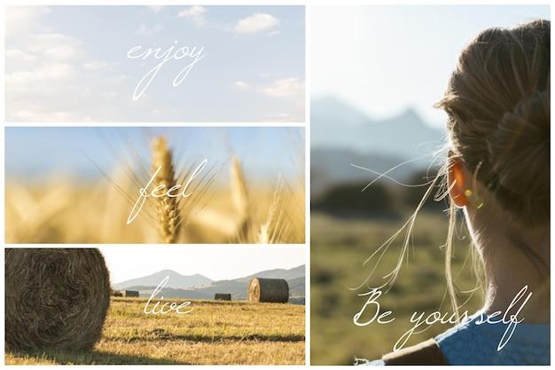 Concepto de collage de fotos