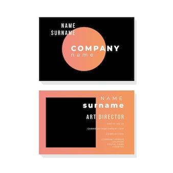 Concepto de color patel para estilo de tarjeta de visita