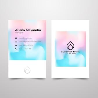 Concepto de color patel para plantilla de tarjeta de visita