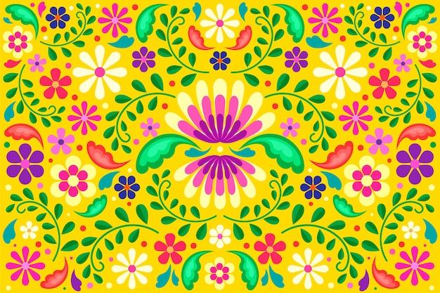 Concepto de colores de fondo mexicano