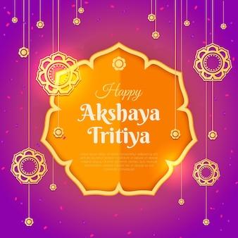 Concepto colorido akshaya tritiya