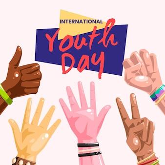 Concepto colorido del día de la juventud