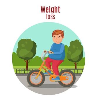 Concepto colorido de pérdida de peso
