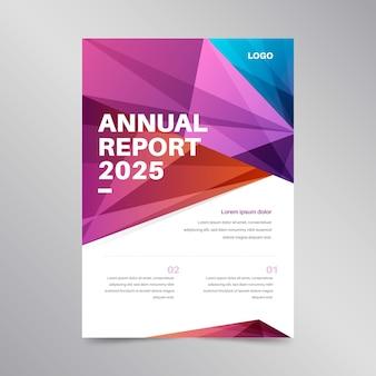 Concepto colorido para plantilla de informe anual