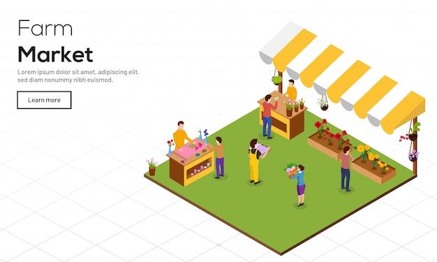 Concepto de la comercialización de la granja.