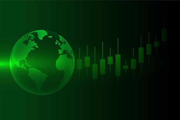 Concepto de comercio de divisas del mercado de valores