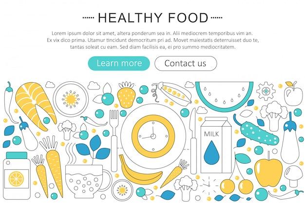 Concepto de comida natural saludable.