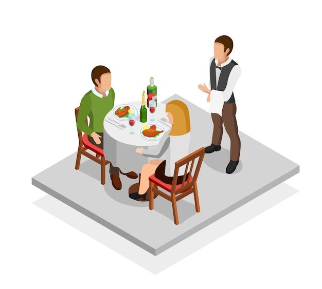 Concepto de comida de restaurante