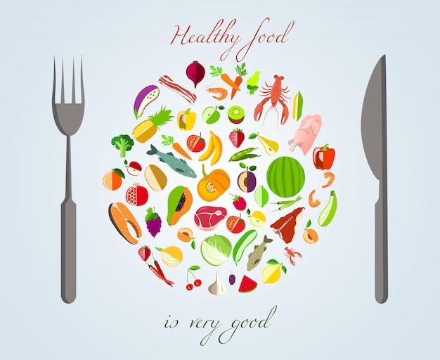 Concepto de comida sana
