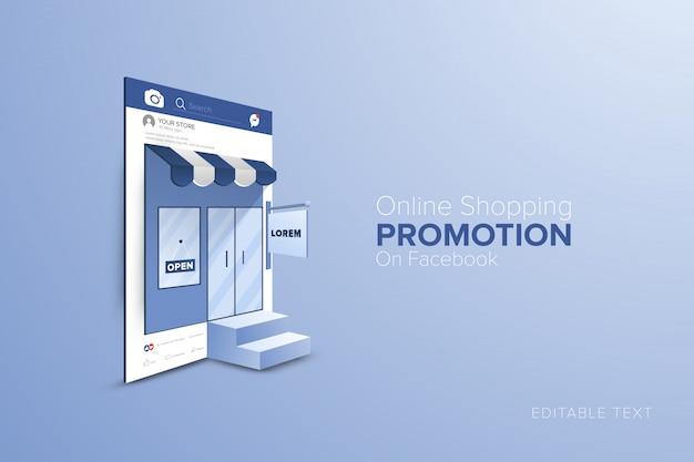 Concepto de compra online en el marco de las redes sociales