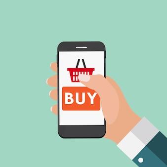 Concepto de compras en línea para marketing web. illustrat