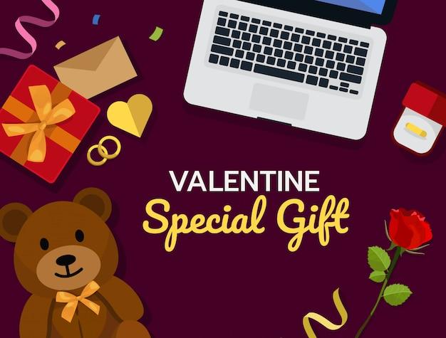 El concepto de compras en línea de valentine