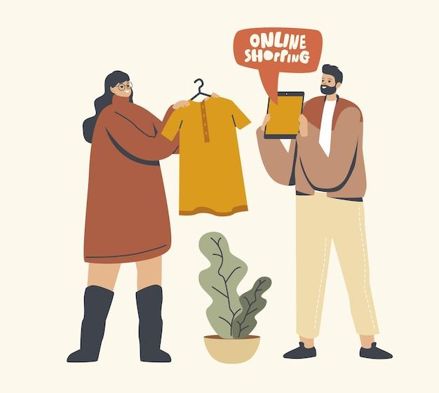 Concepto de compras en línea