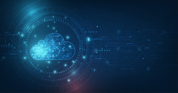 Concepto de computación en la nube. fondo de tecnología de conexión a la nube abstracta.