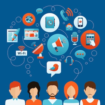 Concepto de comunicación de personas