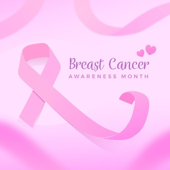 Concepto de concienciación sobre el cáncer de mama