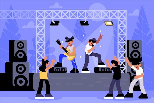 Concepto de concierto al aire libre