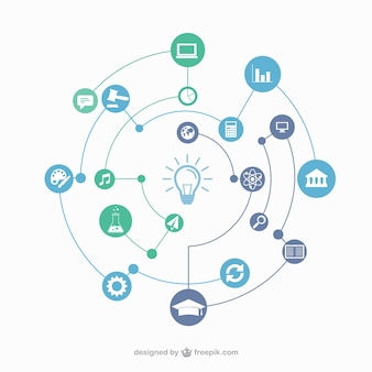 Concepto de conexión de educación