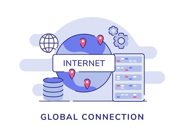 Concepto de conexión global