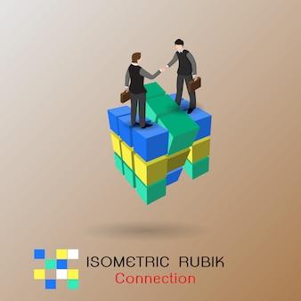 Concepto de conexión de negocios. asociación.