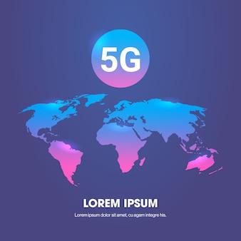 Concepto de conexión de sistemas inalámbricos de red de comunicación en línea 5g