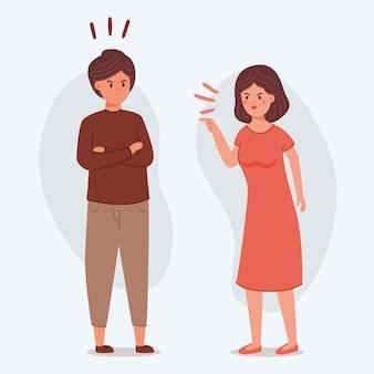 Concepto de conflictos de pareja