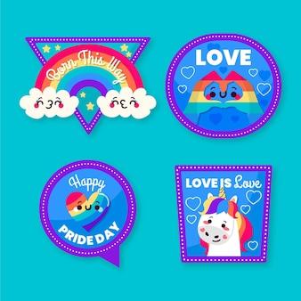 Concepto de conjunto de etiqueta del día del orgullo