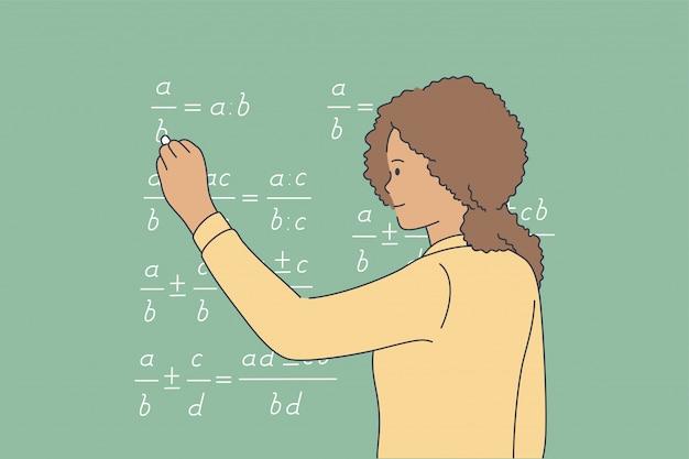 Concepto de conocimiento de solución de estudio de escuela de educación