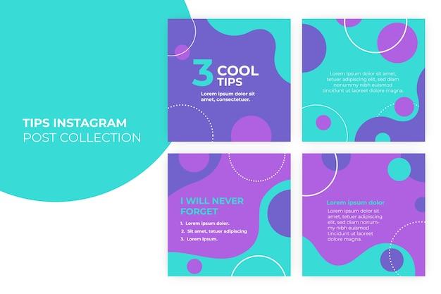 Concepto de consejos para la colección de publicaciones de instagram