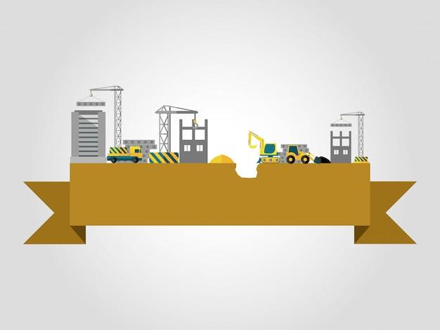 Concepto de construcción de edificios