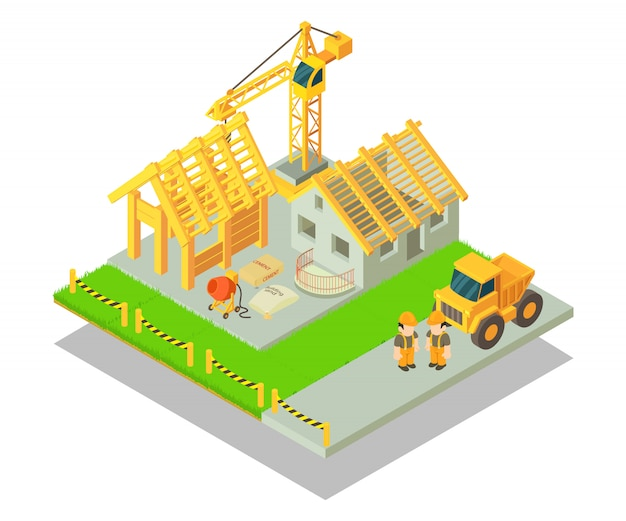 Concepto de construcción escena