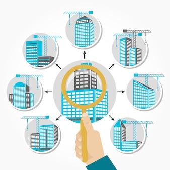 Concepto de construcción y vivienda