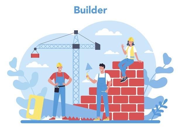 Concepto de construcción de viviendas