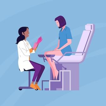 Concepto de consulta de ginecología