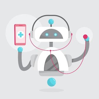 Concepto de consulta médica en línea. idea de digital