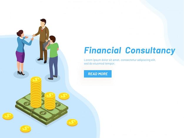 Concepto de consultoría financiera.