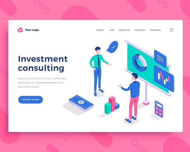 Concepto de consultoría de inversión