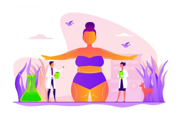 Concepto de contorno corporal.